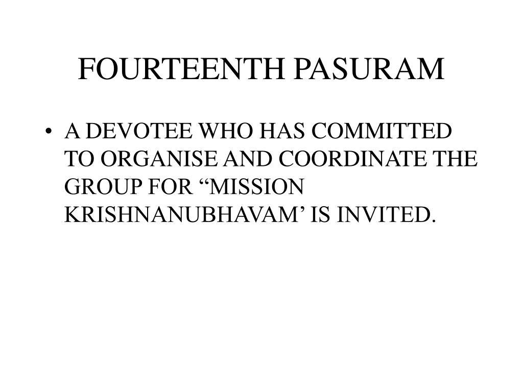 FOURTEENTH PASURAM