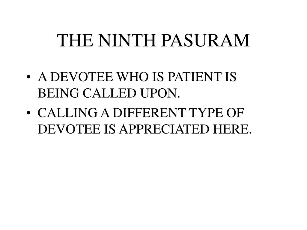THE NINTH PASURAM