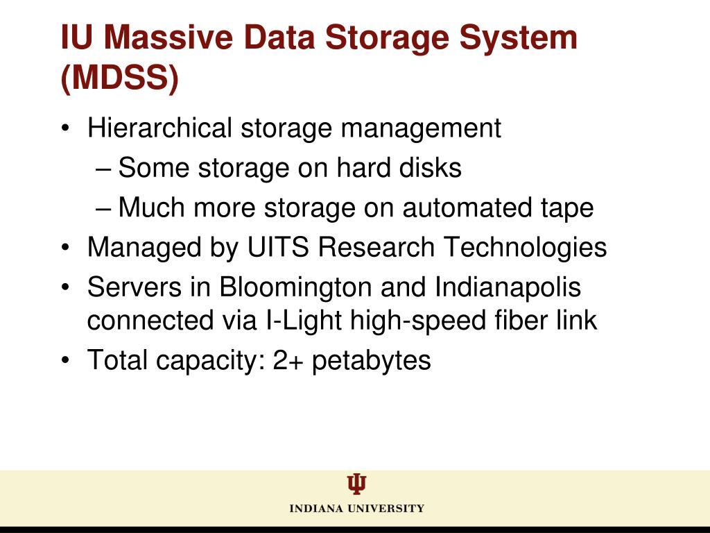 Hierarchical storage management