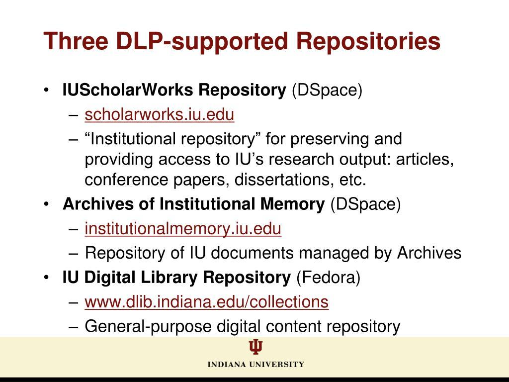 IUScholarWorks Repository