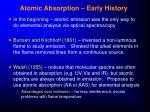 atomic absorption early history