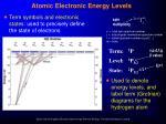 atomic electronic energy levels18