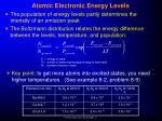 atomic electronic energy levels20