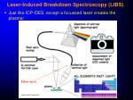 laser induced breakdown spectroscopy libs