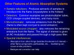 other features of atomic absorption systems