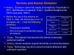torches and atomic emission