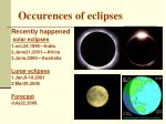 occurences of eclipses