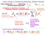 jones vectors coherency matrices stokes vectors