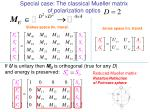 special case the classical mueller matrix of polarization optics