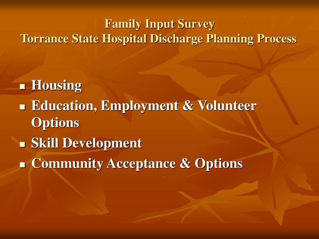 Family Input Survey