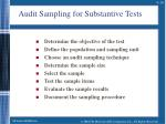 audit sampling for substantive tests