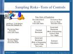 sampling risks tests of controls