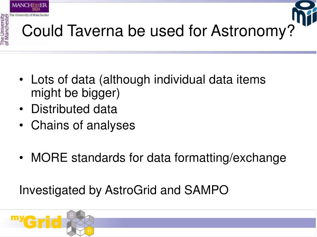 Could Taverna be used for Astronomy?