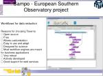 sampo european southern observatory project