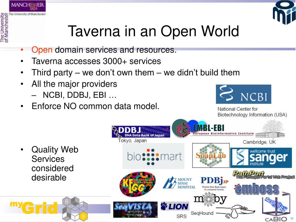 Taverna in an Open World