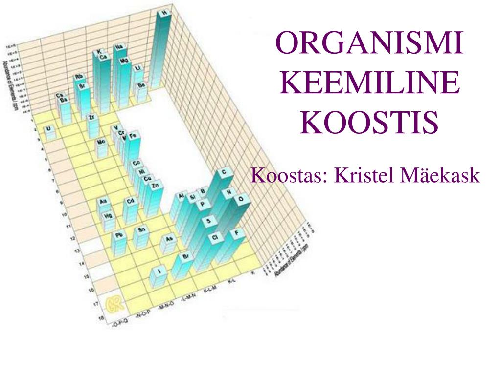ORGANISMI KEEMILINE KOOSTIS