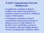 e mail communication network mailing lists