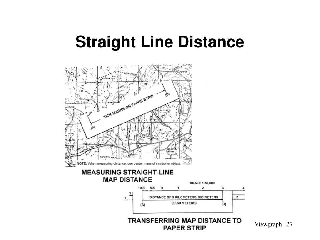 Straight Line Distance