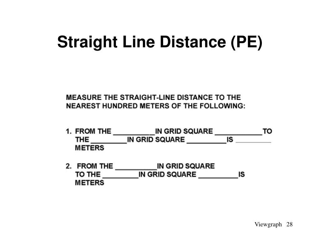 Straight Line Distance (PE)
