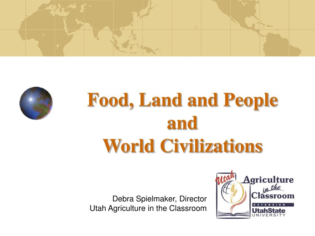 food land and people and world civilizations