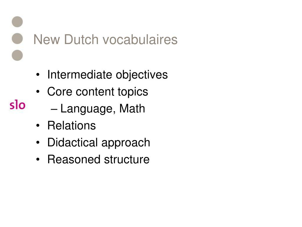New Dutch vocabulaires