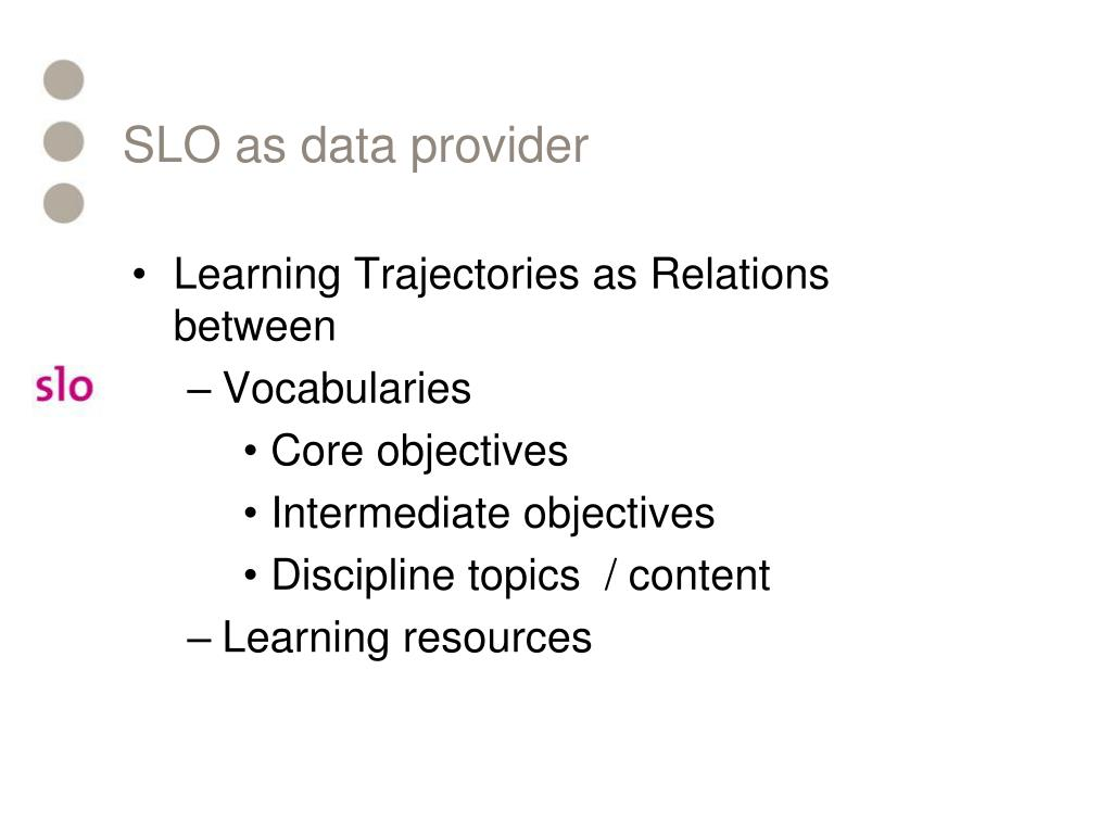 SLO as data provider