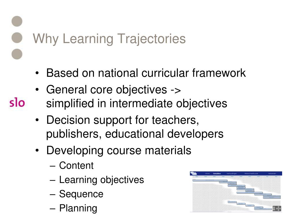 Why Learning Trajectories