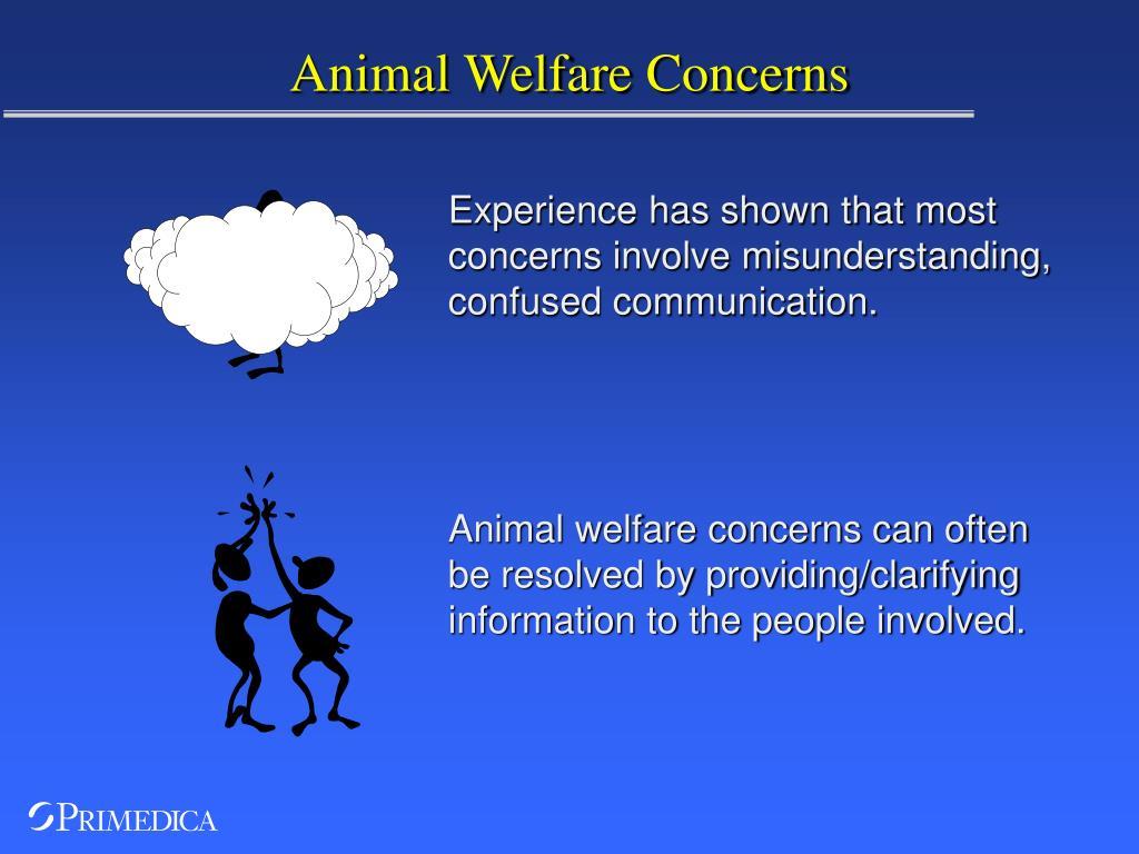animal welfare concerns