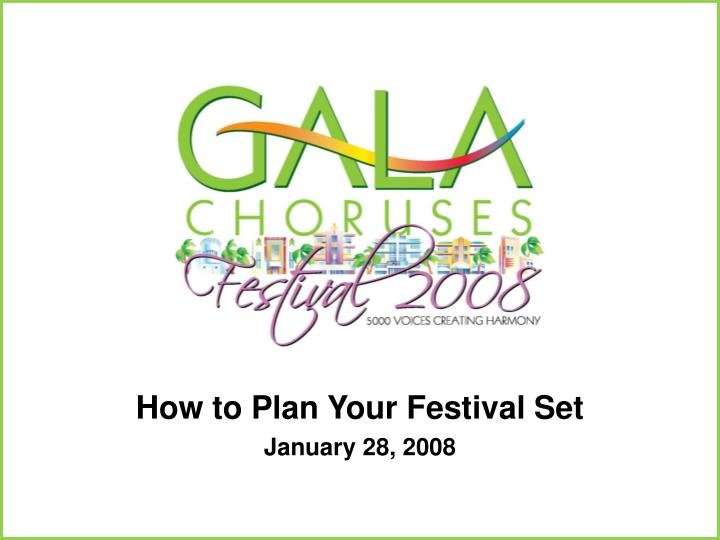 How to Plan Your Festival Set