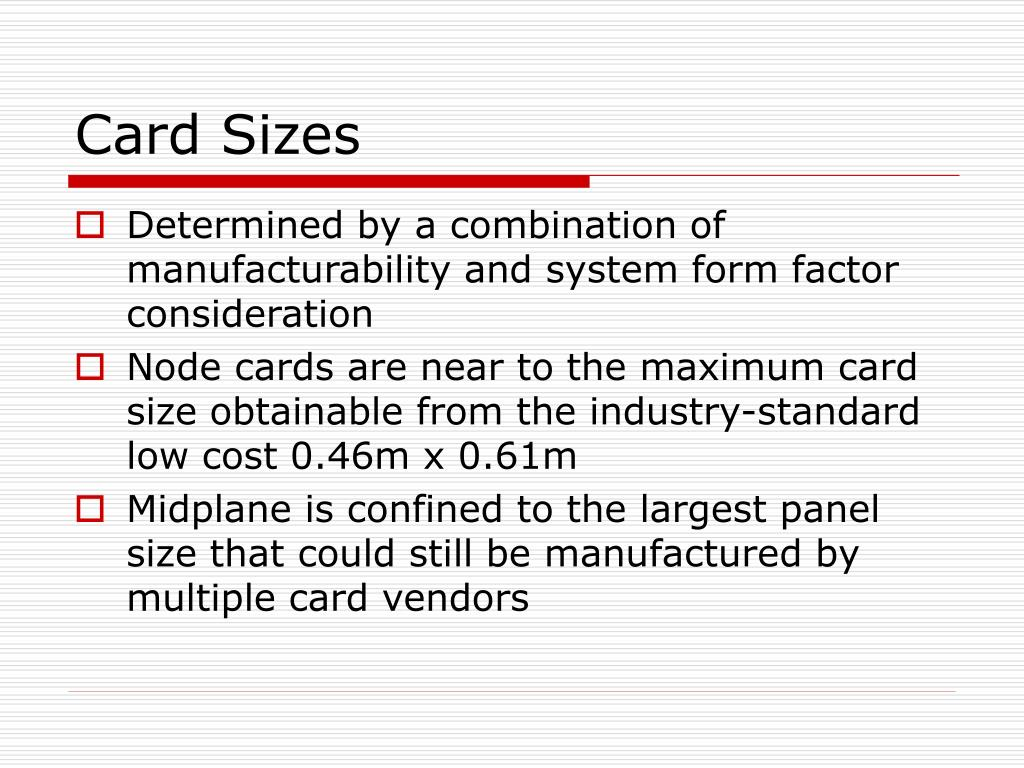 Card Sizes