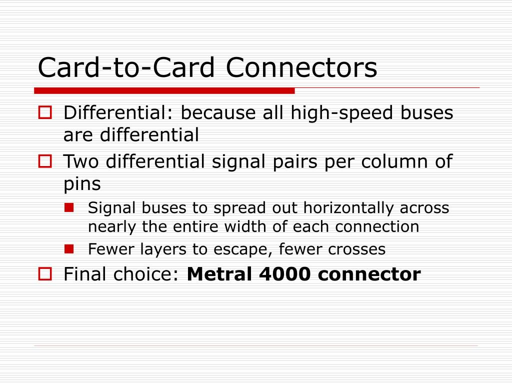 Card-to-Card Connectors