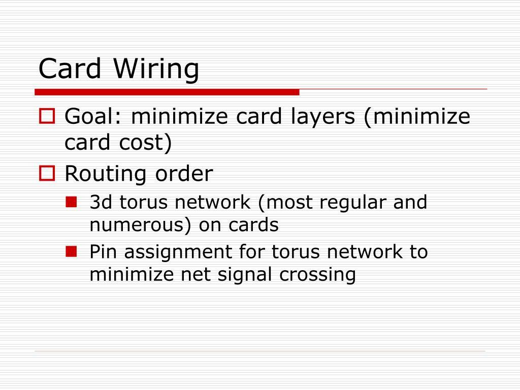 Card Wiring