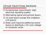 circuit card cross sections