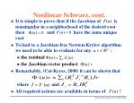 nonlinear schwarz cont