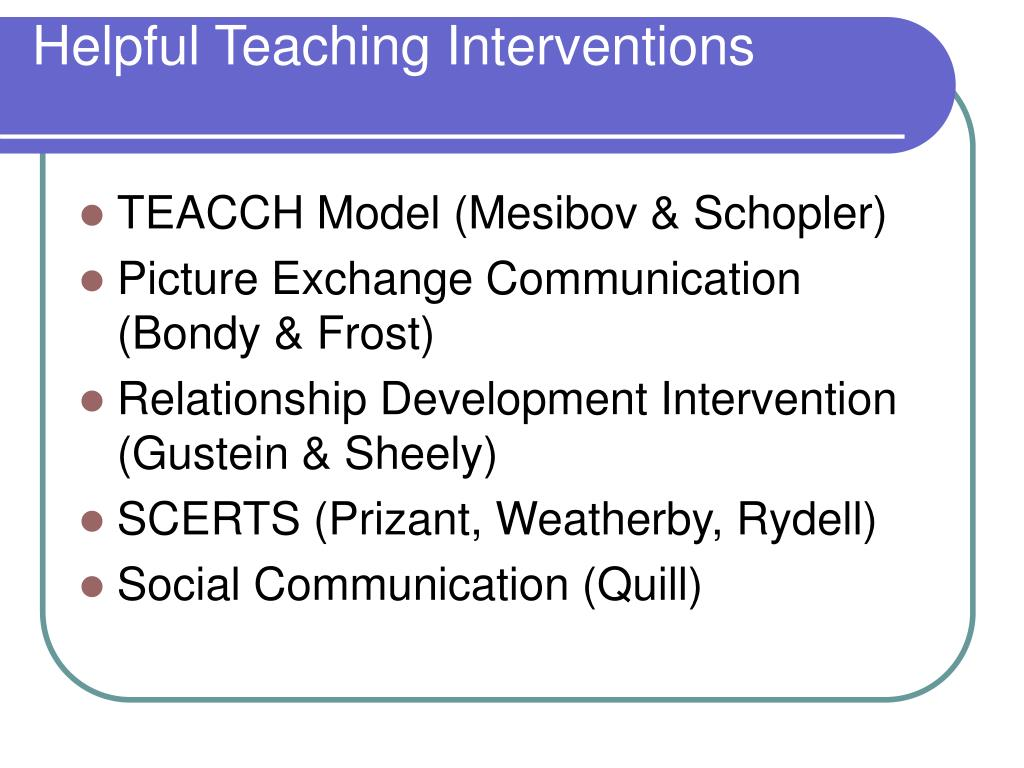 Helpful Teaching Interventions