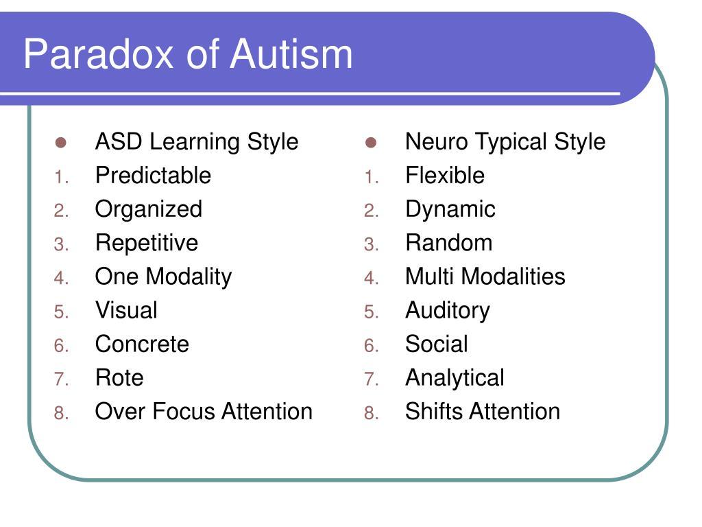 ASD Learning Style