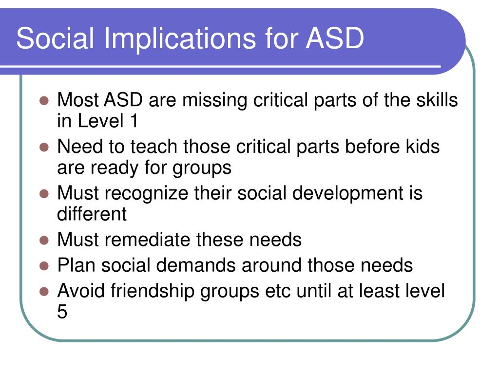 Social Implications for ASD