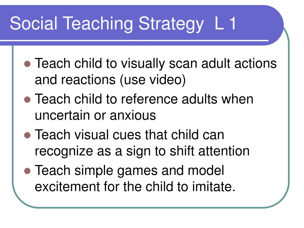 Social Teaching Strategy  L 1