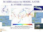 m aeri cruises for modis aatsr avhrr validation