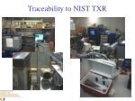 traceability to nist txr