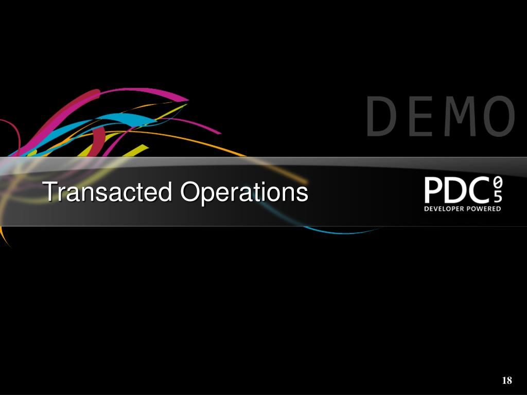 Transacted Operations