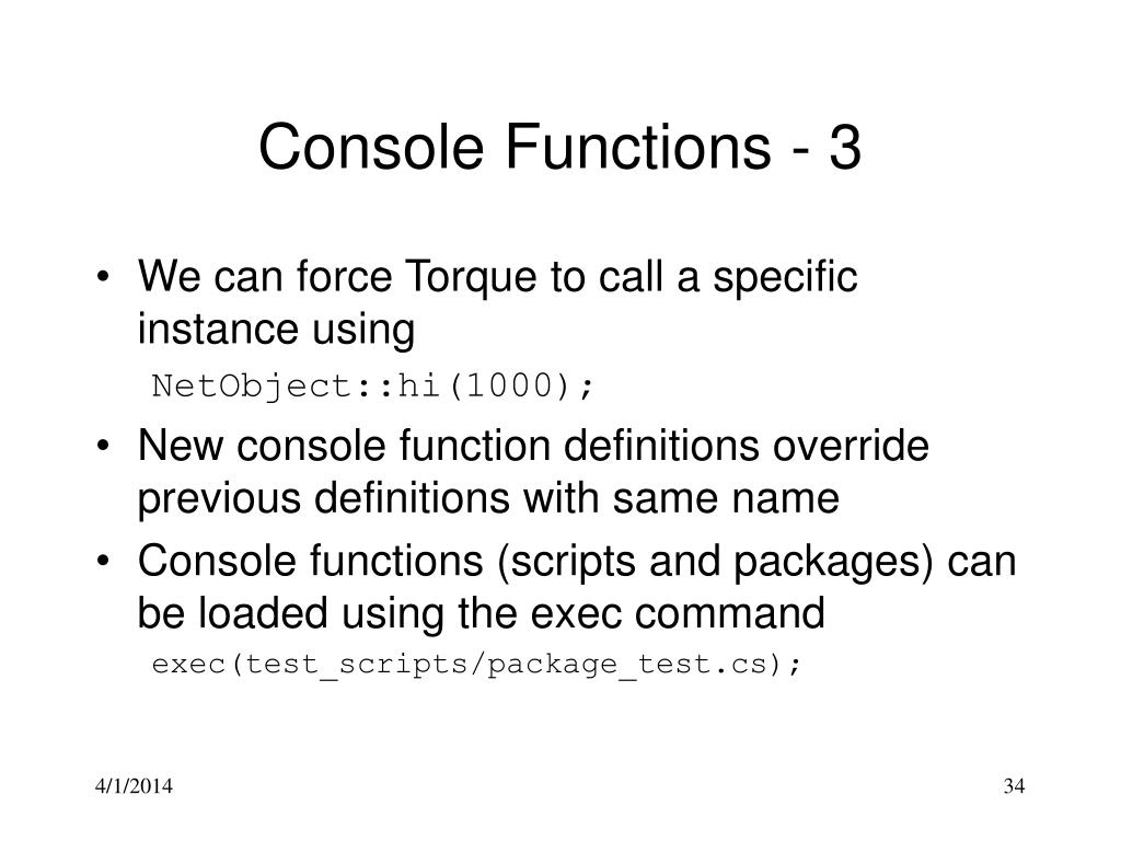 Console Functions - 3