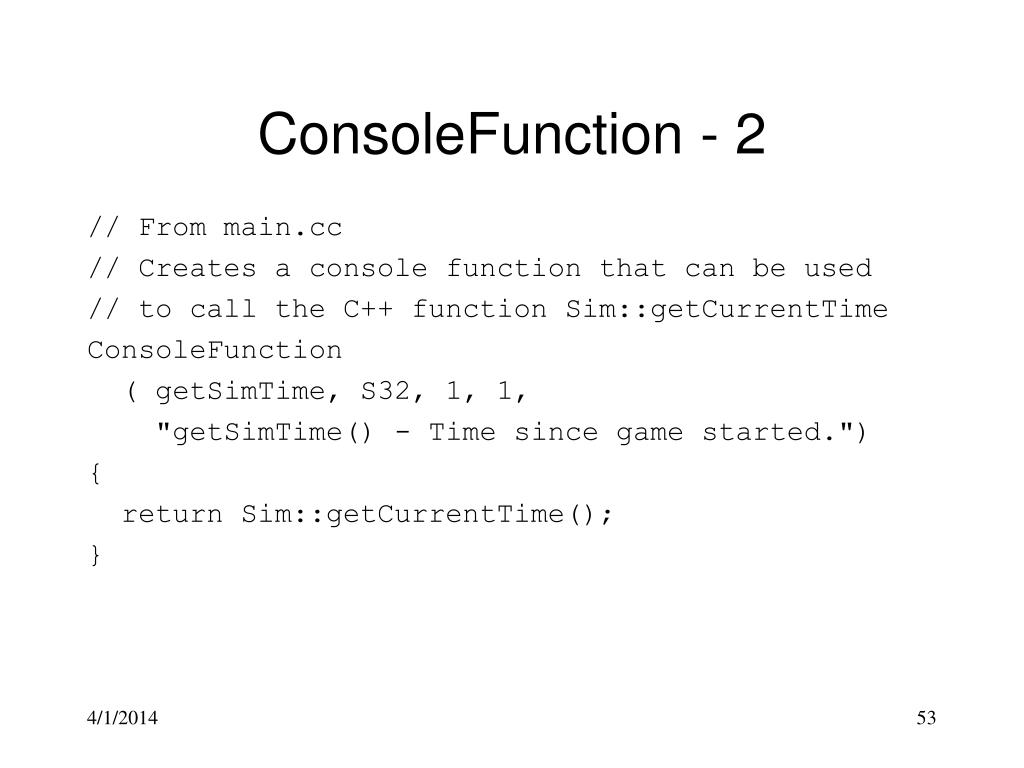 ConsoleFunction - 2