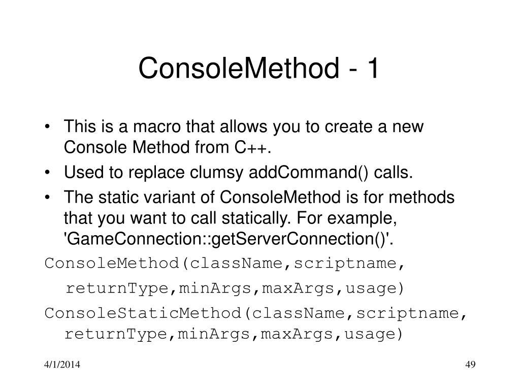 ConsoleMethod - 1