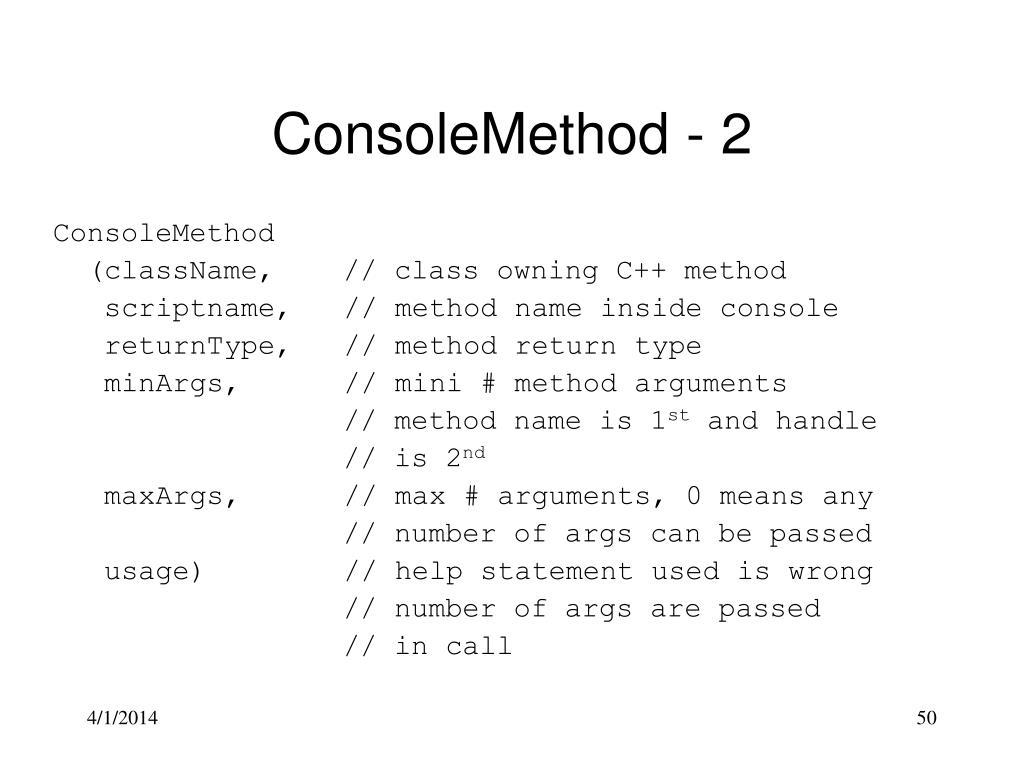 ConsoleMethod - 2