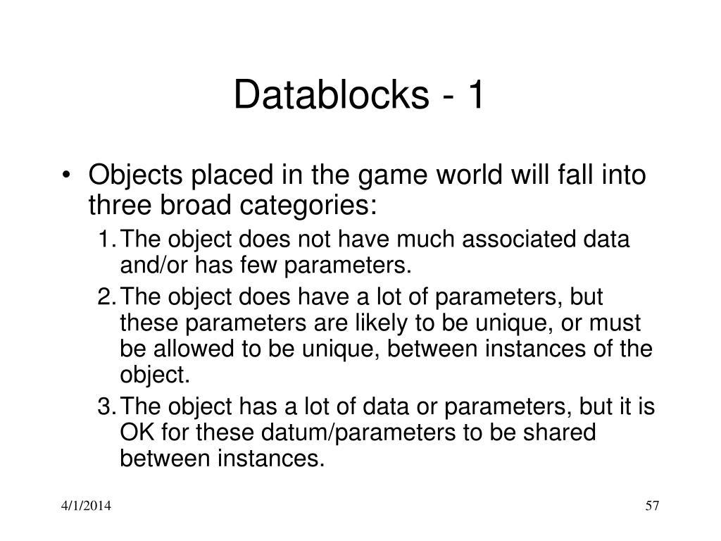 Datablocks - 1