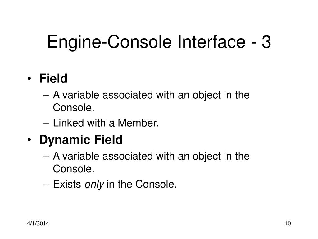 Engine-Console Interface - 3