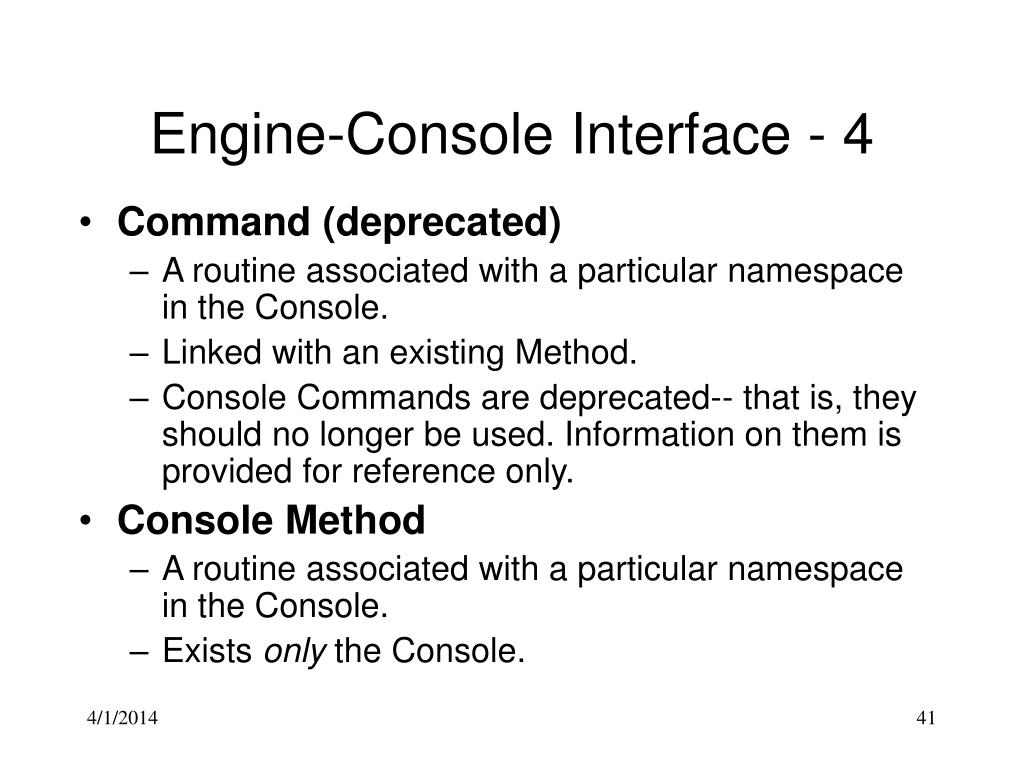Engine-Console Interface - 4