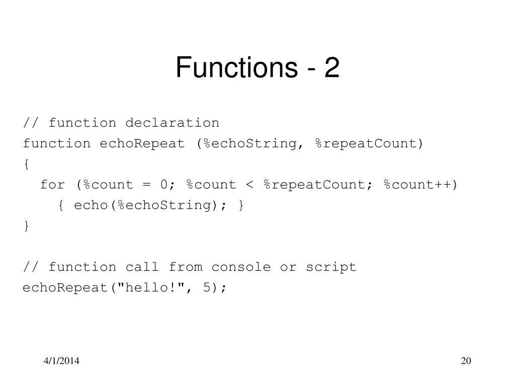 // function declaration