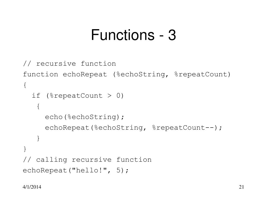 Functions - 3